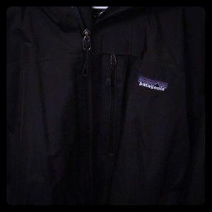 Patagonia black hooded jacket